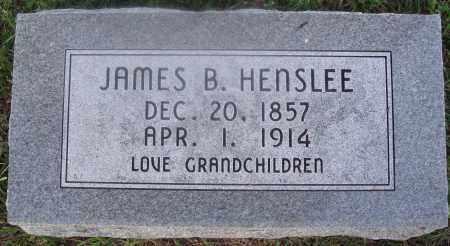 HENSLEE, JAMES B. - Marion County, Arkansas | JAMES B. HENSLEE - Arkansas Gravestone Photos