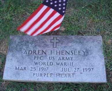 HENSLEY (VETERAN WWII), ADREN I. - Marion County, Arkansas | ADREN I. HENSLEY (VETERAN WWII) - Arkansas Gravestone Photos