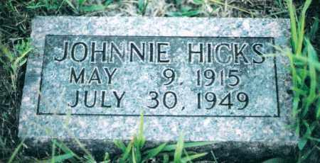 HICKS, JOHNNIE - Marion County, Arkansas | JOHNNIE HICKS - Arkansas Gravestone Photos