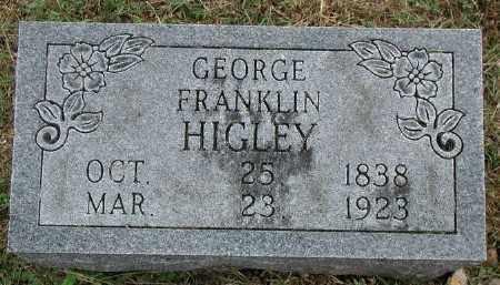 HIGLEY, GEORGE FRANKLIN - Marion County, Arkansas | GEORGE FRANKLIN HIGLEY - Arkansas Gravestone Photos