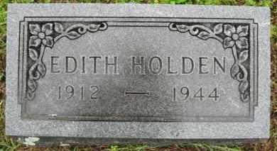 HOLDEN, EDITH W. - Marion County, Arkansas | EDITH W. HOLDEN - Arkansas Gravestone Photos