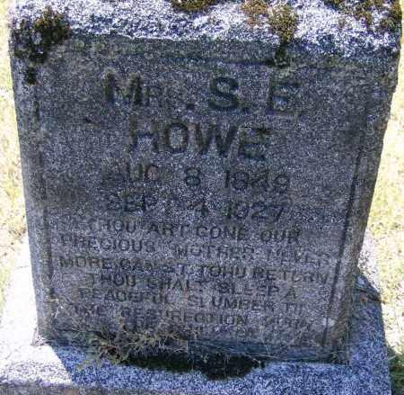 HOWE, MRS. S. E. - Marion County, Arkansas | MRS. S. E. HOWE - Arkansas Gravestone Photos