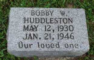 HUDDLESTON, BOBBY W. - Marion County, Arkansas | BOBBY W. HUDDLESTON - Arkansas Gravestone Photos