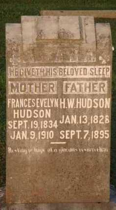 HUDSON, FRANCES EVELYN - Marion County, Arkansas | FRANCES EVELYN HUDSON - Arkansas Gravestone Photos