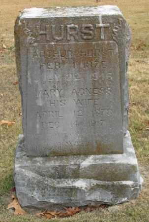 HURST, MARY AGNES - Marion County, Arkansas | MARY AGNES HURST - Arkansas Gravestone Photos
