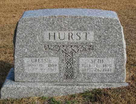 HURST, CRESSIE - Marion County, Arkansas | CRESSIE HURST - Arkansas Gravestone Photos