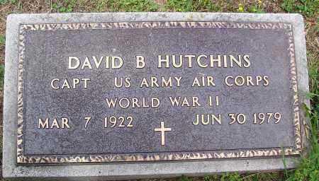 HUTCHINS (VETERAN WWII), DAVID B - Marion County, Arkansas | DAVID B HUTCHINS (VETERAN WWII) - Arkansas Gravestone Photos
