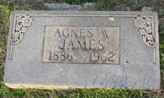 JAMES, AGNES W. - Marion County, Arkansas   AGNES W. JAMES - Arkansas Gravestone Photos
