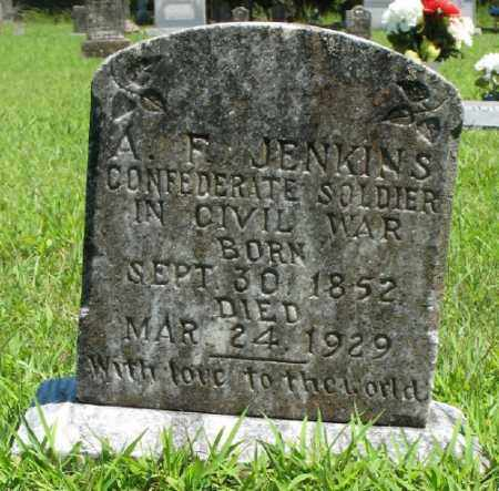 JENKINS (VETERAN CSA), A F - Marion County, Arkansas | A F JENKINS (VETERAN CSA) - Arkansas Gravestone Photos