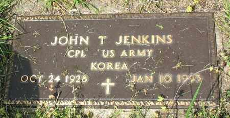 JENKINS (VETERAN KOR), JOHN T - Marion County, Arkansas   JOHN T JENKINS (VETERAN KOR) - Arkansas Gravestone Photos