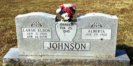 JOHNSON, LARSH ELDON - Marion County, Arkansas | LARSH ELDON JOHNSON - Arkansas Gravestone Photos