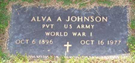JOHNSON (VETERAN WWI), ALVA A - Marion County, Arkansas | ALVA A JOHNSON (VETERAN WWI) - Arkansas Gravestone Photos