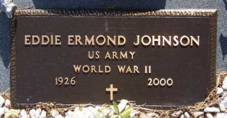 JOHNSON (VETERAN WWII), EDDIE ERMOND - Marion County, Arkansas | EDDIE ERMOND JOHNSON (VETERAN WWII) - Arkansas Gravestone Photos