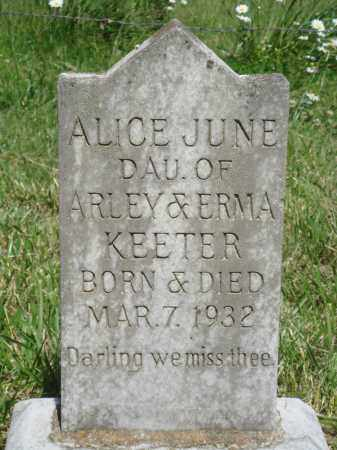 KEETER, ALICE JUNE - Marion County, Arkansas | ALICE JUNE KEETER - Arkansas Gravestone Photos