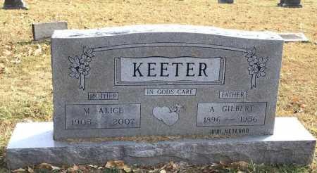 KEETER, A. GILBERT - Marion County, Arkansas | A. GILBERT KEETER - Arkansas Gravestone Photos