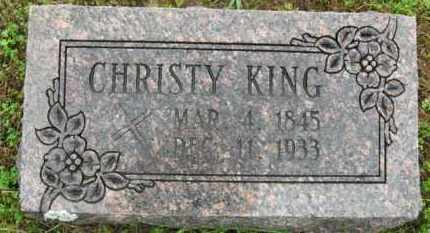 """KING, CHRISTOPHER H. """"CHRISTY"""" - Marion County, Arkansas 