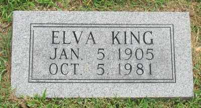 KING, ELVA - Marion County, Arkansas | ELVA KING - Arkansas Gravestone Photos
