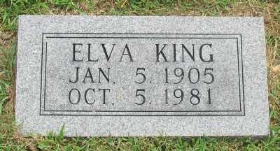 KING, ELVA - Marion County, Arkansas | ELVA KING - Arkansas Gravestone Photos