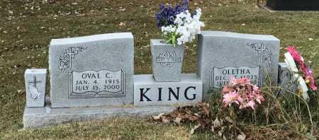 KING, OVAL C. - Marion County, Arkansas   OVAL C. KING - Arkansas Gravestone Photos