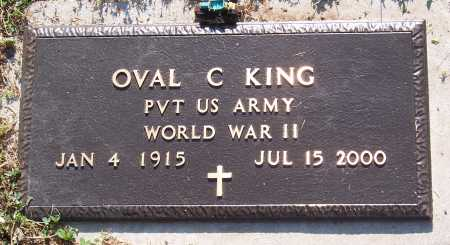 KING (VETERAN WWII), OVAL C. - Marion County, Arkansas | OVAL C. KING (VETERAN WWII) - Arkansas Gravestone Photos