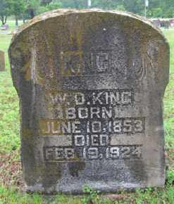 KING, WILLIAM D. - Marion County, Arkansas | WILLIAM D. KING - Arkansas Gravestone Photos