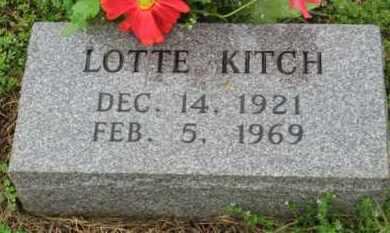 KITCH, LOTTE - Marion County, Arkansas   LOTTE KITCH - Arkansas Gravestone Photos