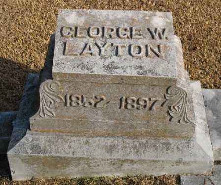 LAYTON, GEORGE W. - Marion County, Arkansas   GEORGE W. LAYTON - Arkansas Gravestone Photos
