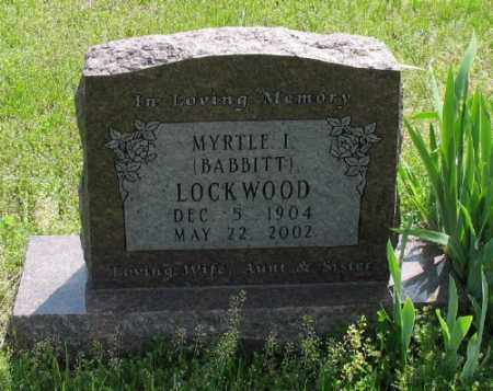 BABBITT LOCKWOOD, MYRTLE I. - Marion County, Arkansas | MYRTLE I. BABBITT LOCKWOOD - Arkansas Gravestone Photos