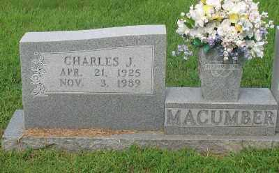 MACUMBER, CHARLES J. - Marion County, Arkansas | CHARLES J. MACUMBER - Arkansas Gravestone Photos