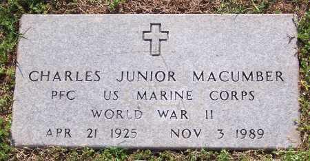 MACUMBER (VETERAN WWII), CHARLES JUNIOR - Marion County, Arkansas   CHARLES JUNIOR MACUMBER (VETERAN WWII) - Arkansas Gravestone Photos