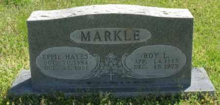 HAYES MARKLE, EFFIE - Marion County, Arkansas   EFFIE HAYES MARKLE - Arkansas Gravestone Photos