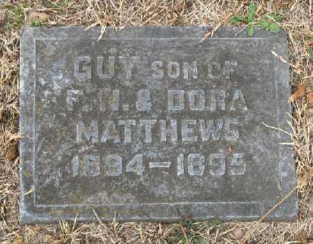 MATTHEWS, GUY - Marion County, Arkansas | GUY MATTHEWS - Arkansas Gravestone Photos