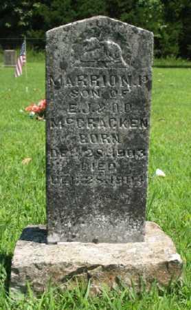 MCCRACKEN, MARRION P. - Marion County, Arkansas   MARRION P. MCCRACKEN - Arkansas Gravestone Photos