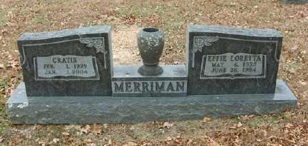 MERRIMAN, EFFIE LORETTA - Marion County, Arkansas   EFFIE LORETTA MERRIMAN - Arkansas Gravestone Photos