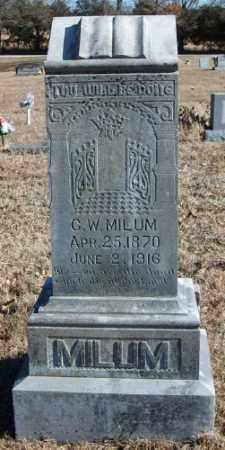 MILUM, G. W. - Marion County, Arkansas | G. W. MILUM - Arkansas Gravestone Photos