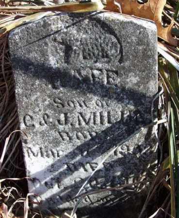 MILUM, RAFE - Marion County, Arkansas | RAFE MILUM - Arkansas Gravestone Photos