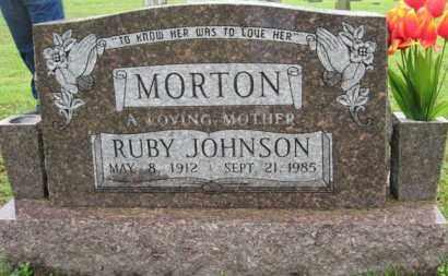 JOHNSON MORTON, RUBY - Marion County, Arkansas | RUBY JOHNSON MORTON - Arkansas Gravestone Photos