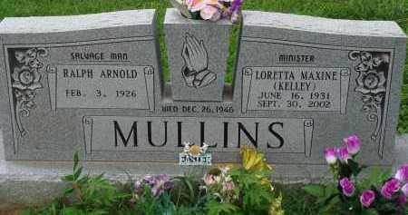 KELLEY MULLINS, LORETTA MAXINE - Marion County, Arkansas | LORETTA MAXINE KELLEY MULLINS - Arkansas Gravestone Photos