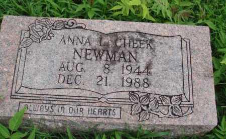 CHEEK NEWMAN, ANNA L. - Marion County, Arkansas | ANNA L. CHEEK NEWMAN - Arkansas Gravestone Photos