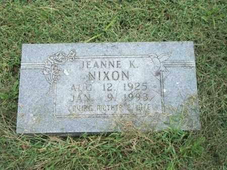 NIXON, JEANNE K. - Marion County, Arkansas | JEANNE K. NIXON - Arkansas Gravestone Photos