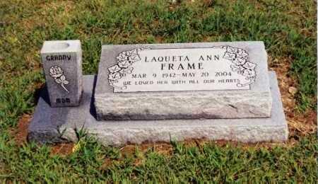 FRAME NIXON, LAQUETA ANN - Marion County, Arkansas | LAQUETA ANN FRAME NIXON - Arkansas Gravestone Photos