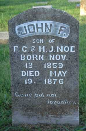 NOE, JOHN F. - Marion County, Arkansas | JOHN F. NOE - Arkansas Gravestone Photos