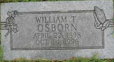 OSBORN, WILLIAM T. - Marion County, Arkansas   WILLIAM T. OSBORN - Arkansas Gravestone Photos