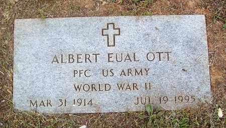 OTT (VETERAN WWII), ALBERT EUAL - Marion County, Arkansas   ALBERT EUAL OTT (VETERAN WWII) - Arkansas Gravestone Photos