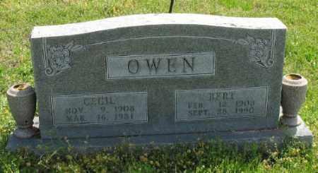 OWEN, BERT - Marion County, Arkansas | BERT OWEN - Arkansas Gravestone Photos