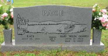 "MARRS PACE, MARY ""WILDA"" - Marion County, Arkansas 