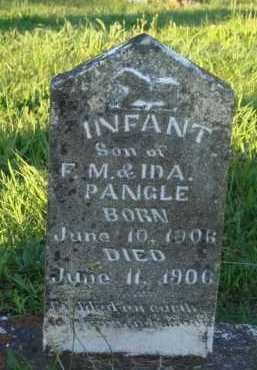 PANGLE, INFANT SON - Marion County, Arkansas   INFANT SON PANGLE - Arkansas Gravestone Photos