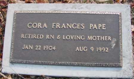 PAPE, CORA FRANCES - Marion County, Arkansas | CORA FRANCES PAPE - Arkansas Gravestone Photos