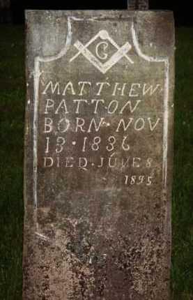 PATTON, MATTHEW - Marion County, Arkansas | MATTHEW PATTON - Arkansas Gravestone Photos