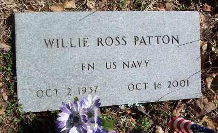 PATTON (VETERAN), WILLIE ROSS - Marion County, Arkansas | WILLIE ROSS PATTON (VETERAN) - Arkansas Gravestone Photos